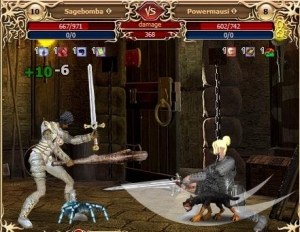 Fight in the online browser game Legend: Legacy of the Dragons
