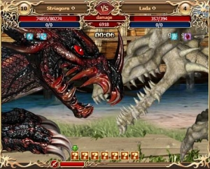 Dragon battle in the MMORPG Legend: Legacy of the Dragons