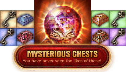 Myterious Chests appear all over Faeo in the MMORPG Legend: Legacy of the Dragons.