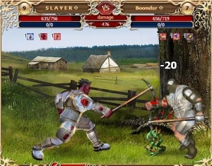 Fight with pickaxes in the free browser game Legend: Legacy of the Dragons.