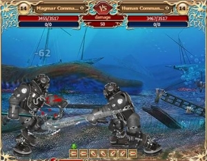 Battle under water in the free MMORPG Legend: Legacy of the Dragons