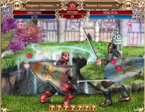 Valentine's Battle in the free online game Legend: Legacy of the Dragons