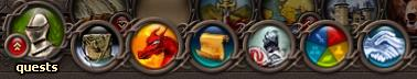 The quest log button is the one with the red dragon on