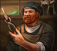 Ostap the Craftsman in the online game Legend: Legacy of the Dragons