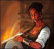 Soygura the Craftswoman in the online game Legend: Legacy of the Dragons