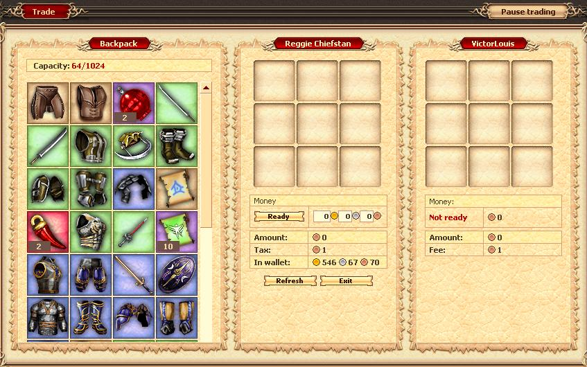 Trade interface